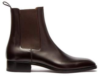 Christian Louboutin Samson Leather Chelsea Boots - Mens - Black