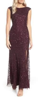 Adrianna Papell Sequin Evening Dress