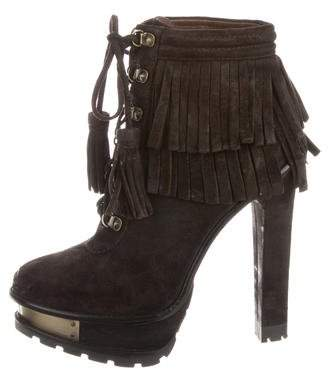Brian Atwood Fringe Ankle Boots w/ Tags