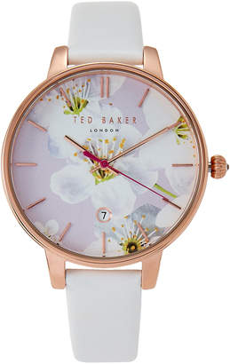 Ted Baker TE50377002 Rose Gold-Tone & White Watch