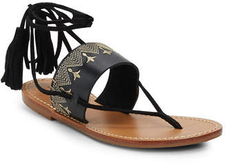 Soludos Lace-Up Leather Sandal