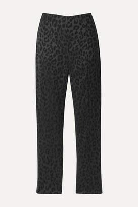 Veronica Beard Honolulu Satin-jacquard Skinny Pants - Black