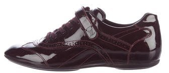 Louis Vuitton Patent Leather Low-Top Sneakers