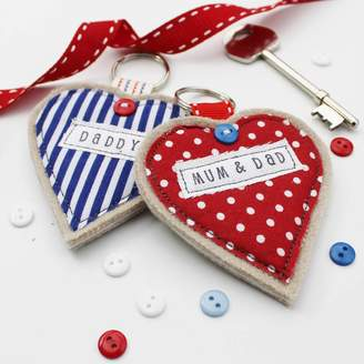 Honeypips Personalised Heart Key Ring