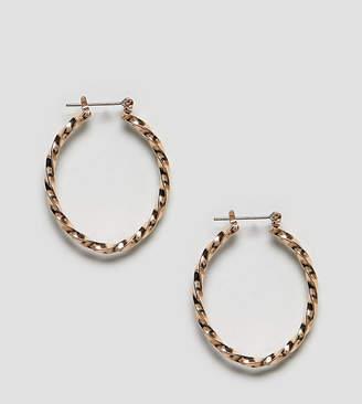 Reclaimed Vintage Inspired Twisted Oval Hoop Earrings