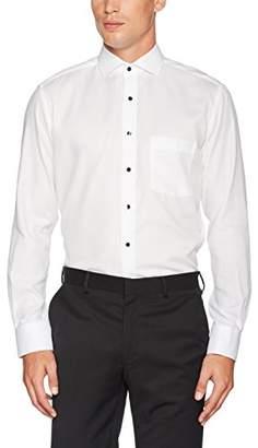 Eterna Men's Modern Fit Langarm Weiß Strukturiert Mit Hai-Kragen Formal Shirt,XXL