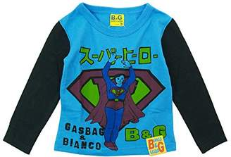 GasBag ガスバグ) スーパーヒーロー天竺長袖Tシャツ 130cm/サックスブルー NO.G-09503