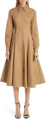 Calvin Klein Western Twill A-Line Midi Dress
