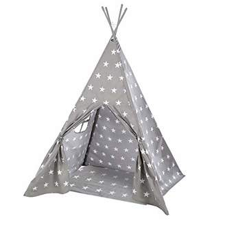 roba 460230V190 'Tiptent Stars' Children's Play Tent with Floor Underlay and Carry Bag Native American Tent Multi-Coloured