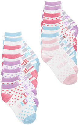 Berkshire 8-Pk. Days Of The Week No-Show Socks, Little Girls & Big Girls, Created for Macy's