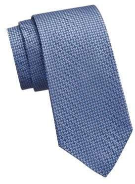 Ralph Lauren Purple Label Blue Bond Silk Geometric Tie