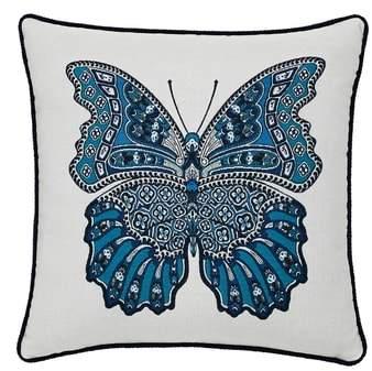 Mariposa Azure Indoor/Outdoor Accent Pillow