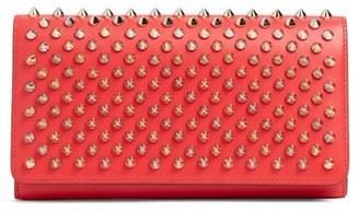 Women's Christian Louboutin Macaron Spiked Calfskin Wallet - Pink $650 thestylecure.com
