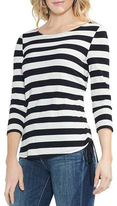 Vince Camuto Ribbed Stripe Top