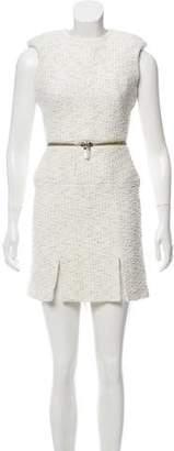 Alexander McQueen Sleeveless Tweed Dress