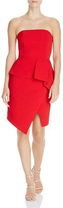 Adelyn Rae Samantha Strapless Asymmetric Dress