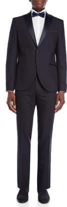 Kenneth Cole Reaction Navy Peak Lapel Tuxedo