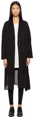 Yohji Yamamoto Y's by O-Pleats LJK Pleated Trim Button Up Jacket Women's Jacket