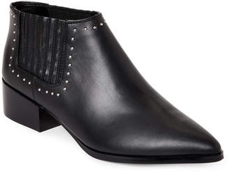 Marc Fisher Black Idalee Studded Leather Chelsea Boots