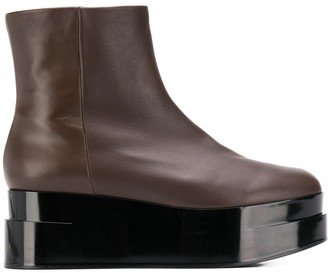Clergerie platform ankle boots