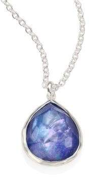 Ippolita Rock Candy? Clear Quartz, Mother-Of-Pearl& Lapis Mini Teardrop Pendant Necklace