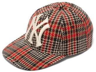 0fd6a52d69c Gucci Ny Yankees Wool Blend Tweed Baseball Cap - Mens - Black Red