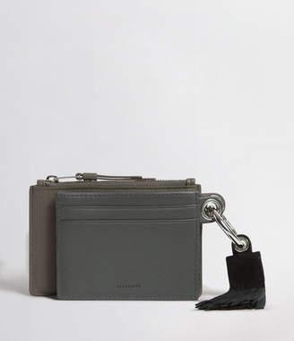 AllSaints Dive Leather Keyfob