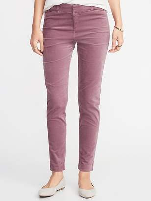 Old Navy Mid-Rise Pixie Full-Length Velvet Pants for Women