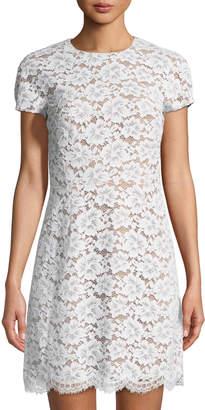 Michael Kors Gardenia Floral Lace Mini Dress