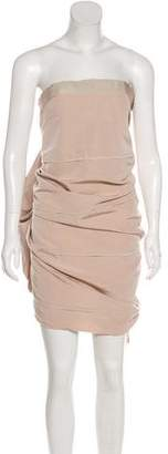 Lanvin Strapless Midi Dress w/ Tags