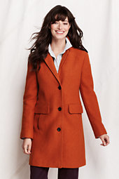 Classic Women's Boiled Wool Walker Coat-Golden Amber