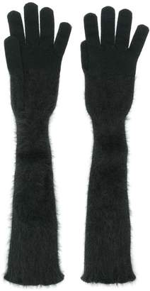 Cruciani long knitted gloves