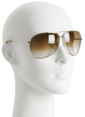 Stella McCartney gold metal aviator sunglasses