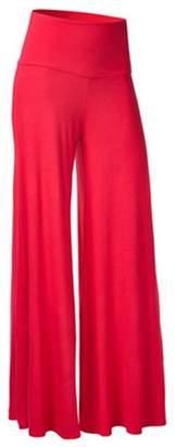 Express ED ED Womens Comfy Soft High Over Waist Foldover Wide Leg Long Palazzo Lounge Pants L