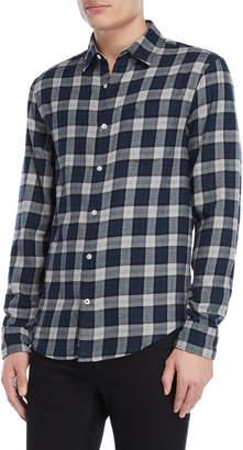 Original Penguin Navy Plaid Flannel Shirt
