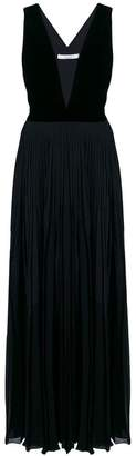 Givenchy plunging neckline pleated gown