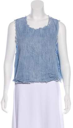 Sam&lavi Sam & Lavi Sleeveless Raw-Edge Top