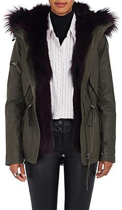 SAM. Women's Mini Luxe Limelight Fur-Lined Parka