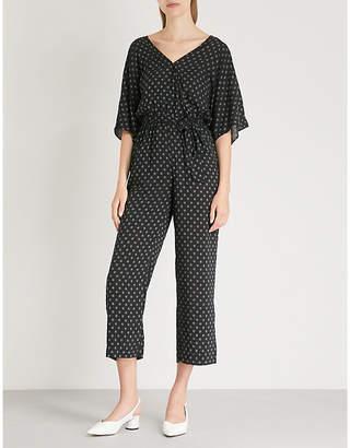 Paige Vanette geometric-print crepe jumpsuit