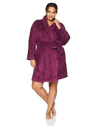 Arabella Women's Plus Size Shaggy Plush Short Robe