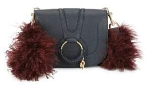 See by Chloe Medium Hana Leather& Lamb Fur Crossbody Bag