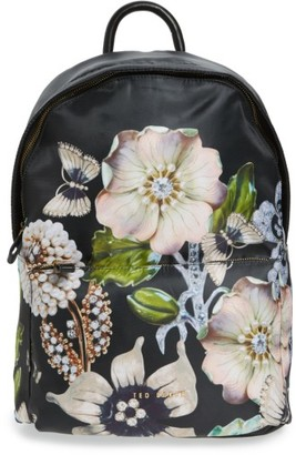 Ted Baker London Gem Gardens Backpack - Black $159 thestylecure.com