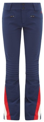 Perfect Moment Chevron Panel Flared Ski Trousers - Womens - Navy