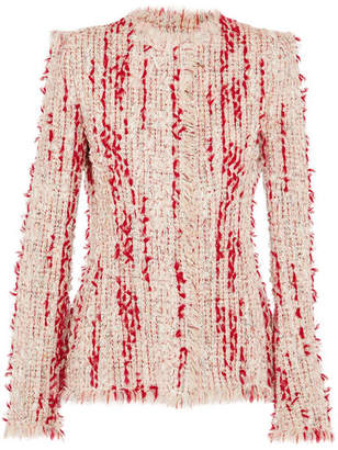 Alexander McQueen Frayed Tweed Jacket - Blush