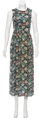Steven Alan Floral Print Maxi Dress