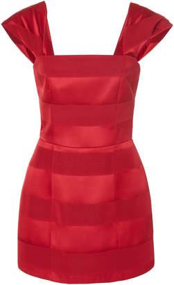 Hellessy Emily Cap Sleeve Jacquard Mini Dress