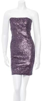 Alice + Olivia Sequined Strapless Dress