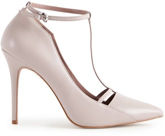 Reiss LOUISE T-BAR COURT SHOES Nude