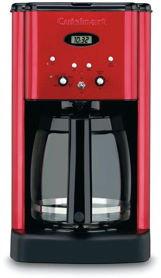 Cuisinart Brew Central 12-Cup Programmable Coffee Maker in Metallic Red