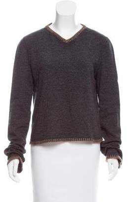 Christian Dior V-Neck Wool-Cashmere Sweater
